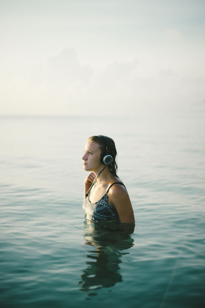 Grado SR325e in the ocean water