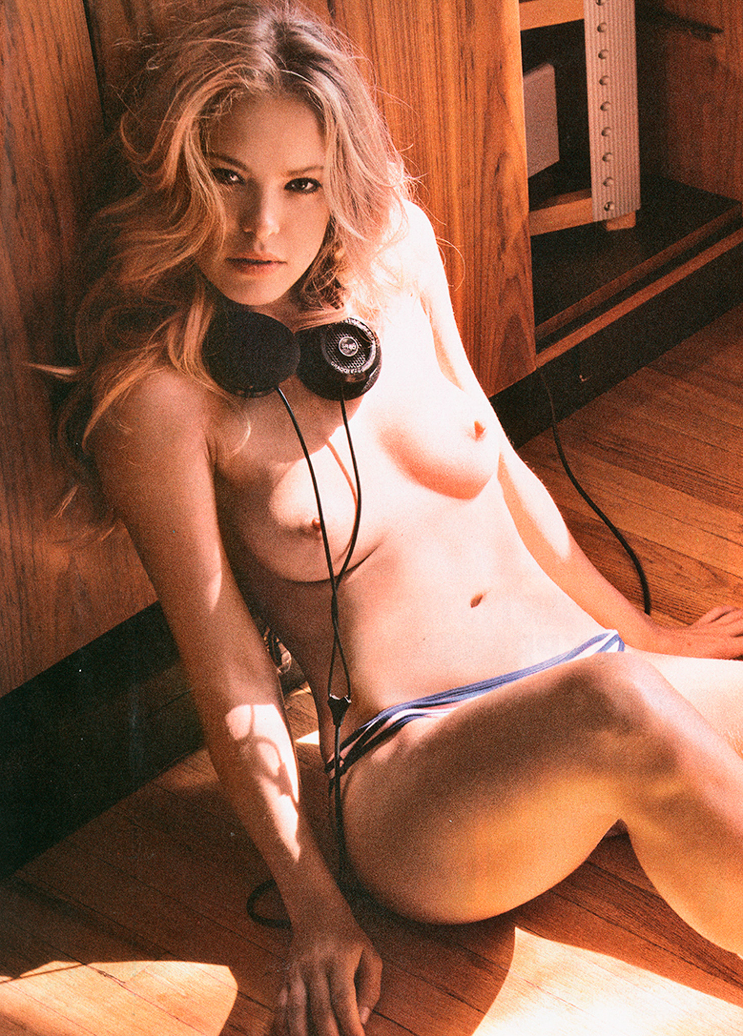 Kristy Garett Last Playboy with Grado Headphones